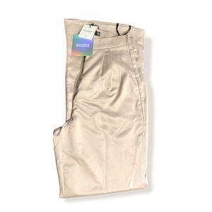 New Misguided Satin High Waist Wide Leg Trousers